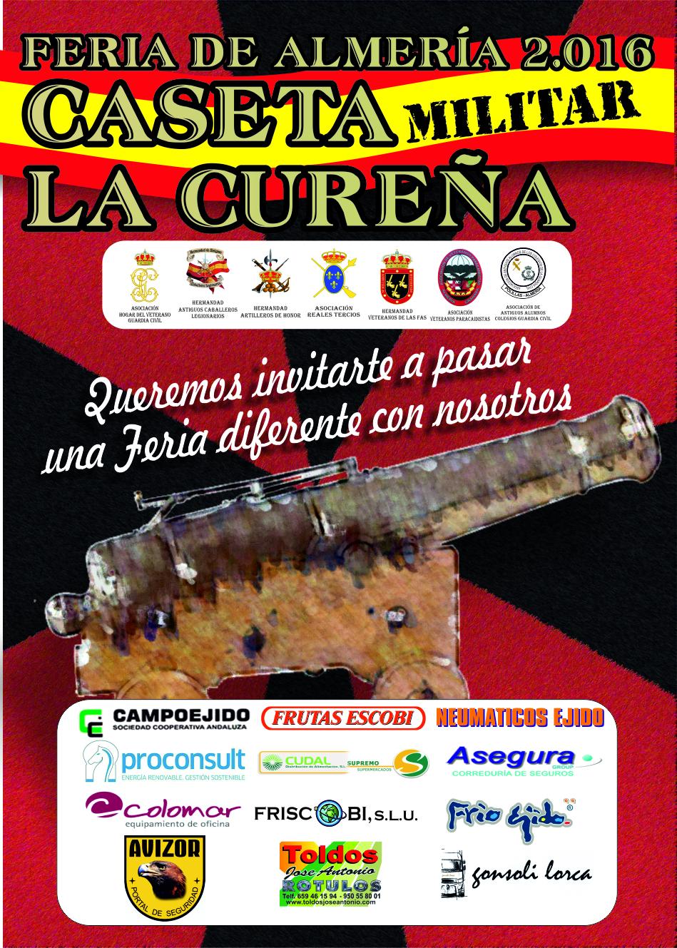 LA CUREÑA CARTEL CASETA FERIA 2016-2